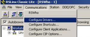 Select Configure Drivers