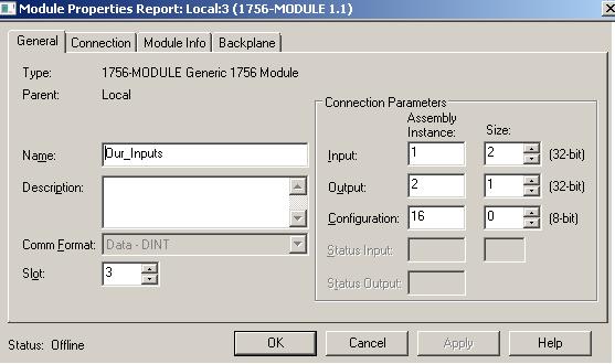 Sim Module Parameters
